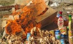 معدومسازی ۹۵۲ کیلوگرم موادغذایی غیرمجاز در قشم