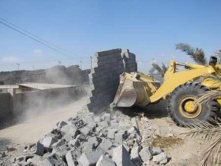 شش هزار مترمربع از اراضی ملی هرمزگان رفع تصرف شد