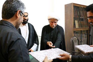 تجلیل از خدمات و زحمات حجت الاسلام بارانی ، حاج علی رئوفی و سرهنگ سهرابی در قاب تصویر