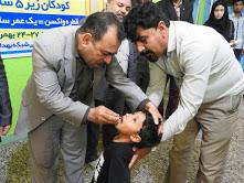 آغاز اجرای واکسیناسیون تکمیلی فلج اطفال در شهرستان میناب