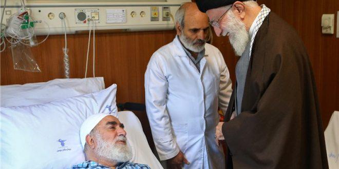 امام خامنهای از حجتالاسلام محمدیگلپایگانی و همسر شهید بابایی عیادت کردند