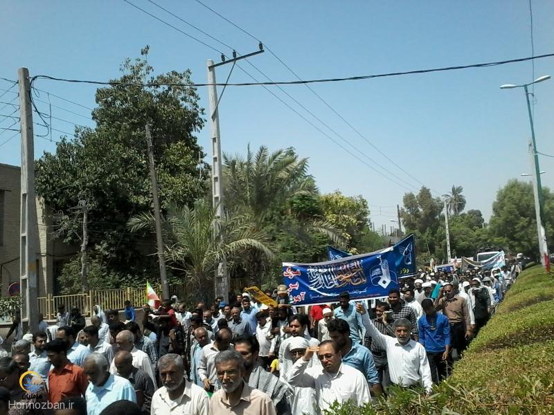 گزارش تصویری / حضور مردم میناب در راهپیمایی روز قدس