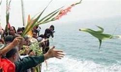 خلیج فارس به یاد ۲۹۰ مسافر پرواز ۶۵۵ گلباران شد