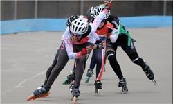 برگزاری مسابقات اسکیت سرعت پسران در بندرعباس