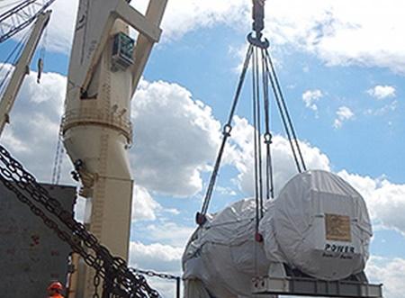 همشهری: بارگیری اولین محموله توربینهای گازی زیمنس به مقصد بندرعباس