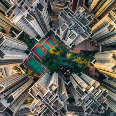 تصاویر هوایی از فاجعه برج سازی