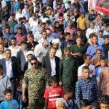 حضور فرماندار در تشییع پیکر چهار شهید گمنام در شهرستان رودان
