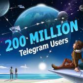 تلگرام ۲۰۰ میلیونی شد