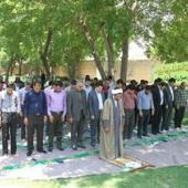 برپایی نماز جماعت در بوستان های محل استقرار مسافران نورزی