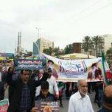 پایان راهپیمایی یوم الله ۲۲ بهمن با قرائت قطعنامه در هرمزگان