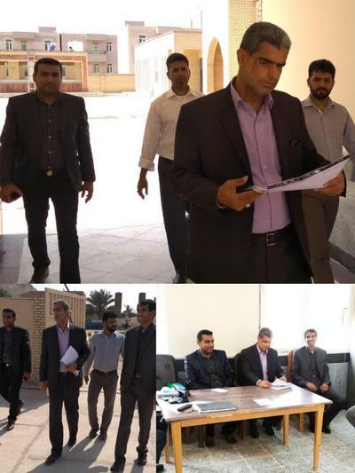 بازدید نماینده مدیرکل آموزش و پرورش هرمزگان از روند اجرای پروژه مهر در شهرستان ابوموسی
