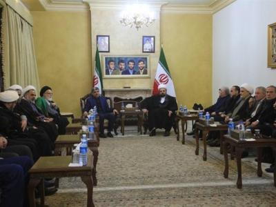 مجلس ترحیم شهید سلیمانی در بیروت و ابراز همدردی «امیل لحود» و دیگر شخصیتهای لبنانی + تصاویر
