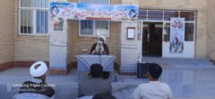 برگزاری مراسم گرامیداشت هفته دفاع مقدس در دبیرستان شبانه روزی ابوریحان هشت بندی + تصاویر